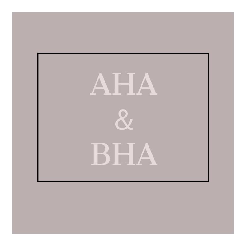 AHA & BHA について