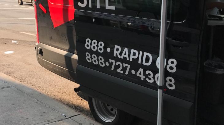 PCR検査とラピッドテスト受けました。inニューヨーク。